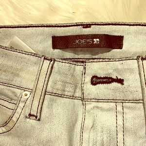 Joe's jeans: new straight with zipper details